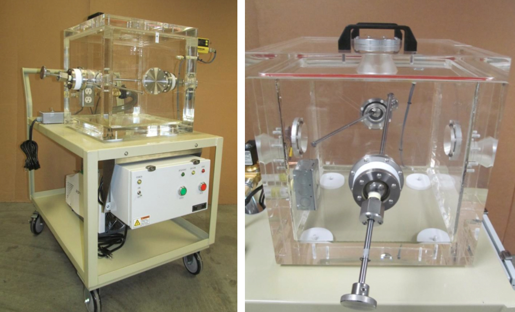 Top Loading Acrylic Chamber with Digital vacuum Cycle Control and Dual Wobble Stick Feedthrus