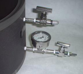 Stainless valves of the medical grade vacuum chamber