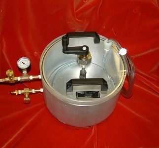"11"" x 6"" chamber with rotary feedthru for mixing"