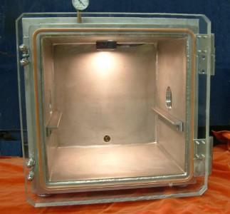 "Vacuum chamber, 14"" cube"