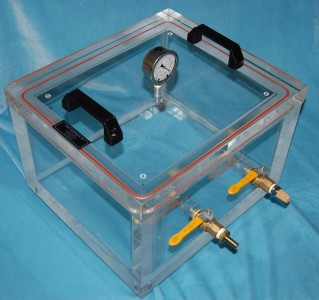 Clear Acrylic Cube Vacuum Chamber Abbess Instruments