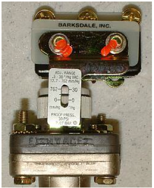 Detail View of Vacuum Setpoint Switch