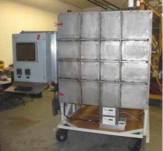 Fig 3: Custom designed Thermal Vacuum System which uses a PC based custom control program.