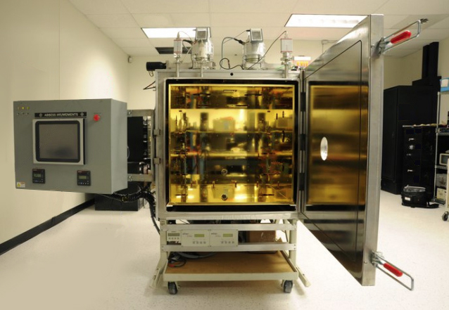 Figure 2: Complex Space Simulation System with Thermal Shroud, PC Touch Screen Control, Twin Turbos, Viewport, and Mobile Cart.