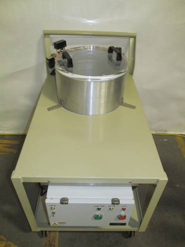 Vacuum Chamber For Degassing And Mixing On A Cart Abbess