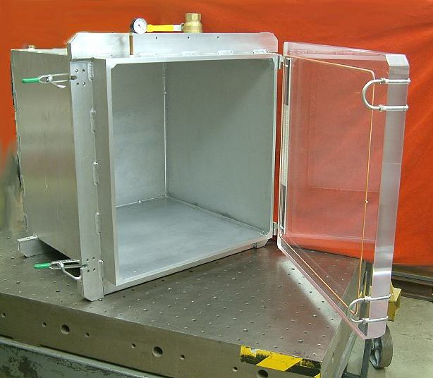 "Aluminum 24"" Cube with Acrylic Door"