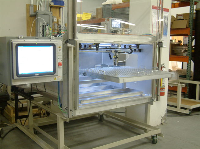 Vacuum Chamber with Robotic Dispensing and Touch Screen Controller