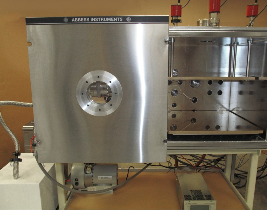 front view of custom thermal gas mix test chamber