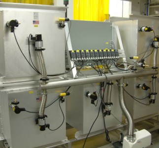 Turbo Molecular Vacuum pump System and manifold with direct acting high vacuum valves