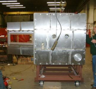 Nasa Shuttle Impact Test Vacuum Chamber in work