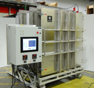 Large vacuum chamber for cube satellite testing