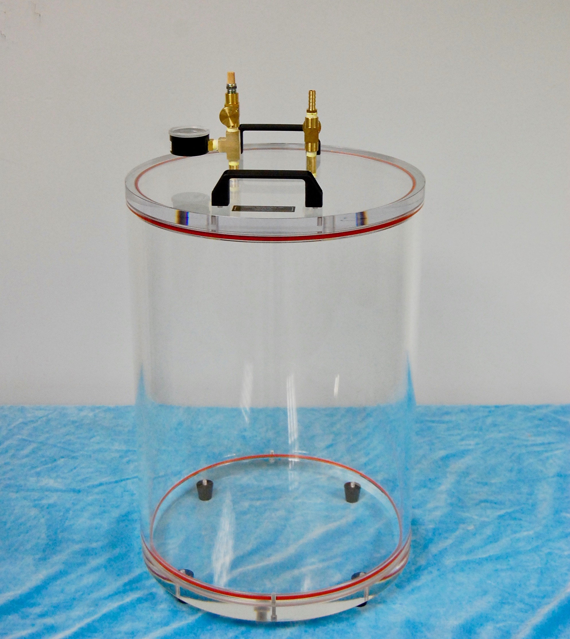 Acrylic Round Vacuum Chamber - Abbess Instruments - Vacuum