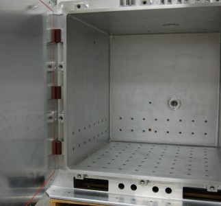 Interior with positions to accommodate various test positions.